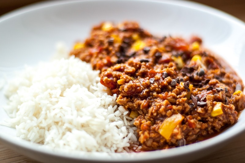 Veganes Chili Sin Carne mit Kakao